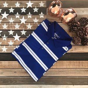 Nike golf polo size large blue striped 🏌️♂️⛳️